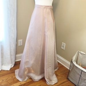 JS Collections Gold Shimmer Maxi Skirt  - Size 12
